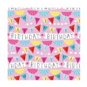 Birthday Bunting Roll Wrap - 2m